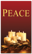 Red and gold dim candles - 4x6 Peace Christmas banner