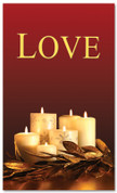 Red and gold dim candles - 4x6 Love Christmas banner