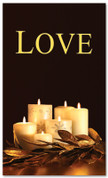 Black and gold dim candles - 4x6 Love Christmas banner