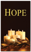 Black and gold dim candles - 4x6 Hope Christmas banner