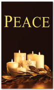 Black and gold dim candles - Peace Christmas banner