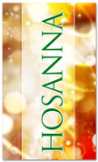Hosanna bright red and gold Christmas colored banner