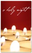 Low candlelight Christmas banner - o holy night