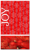 Red Christmas snowflake Joy Church banner 4x6