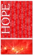 Red snowflake Hope Christmas banner 4x6