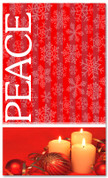 Red snowflake Peace Christmas banner 4x6