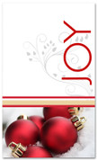 Red and white 4x6 Joy Banner for Christmas
