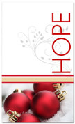 Red and white 4x6 hope Christmas banner