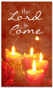 4x6 Red candle Christmas banner - Lord come