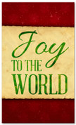 Joy to the world - red and green Christmas banner