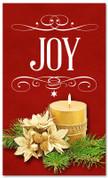 Joy Christmas holiday banner 4x6