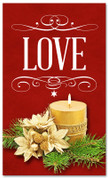 4x6 love Christmas holiday season banner