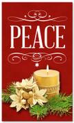 4x6 Christmas season banner that says Peace