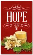 Hope banner for Christmas holiday season