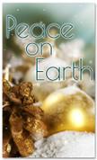 4x6 Christmas ornaments church banner - Peace on Earth