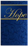 4x6 Christmas banner in blue - Hope