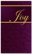 4x6 Christmas banner in purple - Joy