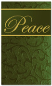 4x6 Christmas banner in green - Peace