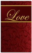 4x6 Christmas banner in red - Love
