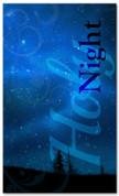 Blue holy night Christmas banner 4x6