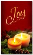 4x6 Christmas church banner - joy candles