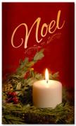 Noel Christmas candle church banner