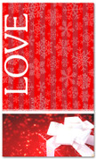 4x6 red love Christmas banner for church