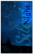 4x6 blue silent night Christmas banner