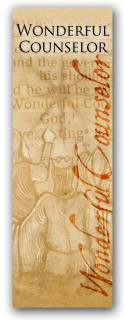 3x8 Wonderful Counselor Christian banner for church