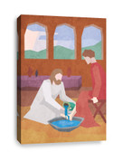 Jesus washing feet - Christian Canvas print