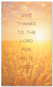 Sunset wheat field - Give Thanks Christian harvest banner