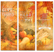2x6 Fall Harvest Thanksgiving banner collage