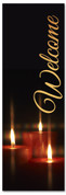 Twinkling candles - church welcoming banner for Christmas