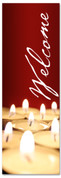 Red candlelight Christmas banner - Welcome