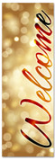 Welcome - gold Christmas holiday banner