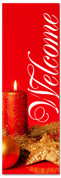 2x6 Christmas Welcoming banner - red