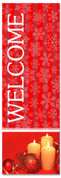 2x6 Welcome Christmas church banner - red