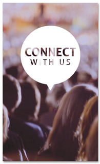 Connect with Christians at Church - 3x5 banner