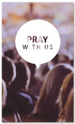 Prayer 3x5 Christian church banner