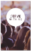 3x5 Serve and Connect at church banner