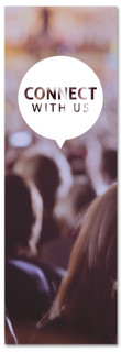 Connect with us - Christian church banner