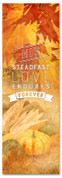 2x6 Fall Harvest church banner - His Love Endures