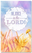 3x5 Christian Thanksgiving banner - Rejoice in the Lord