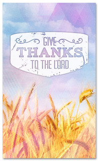 3x5 Thanksgiving church banner - Give thanks to the Lord