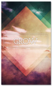 Christian banner for church - Grow