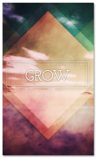 Christian banner for church - Grow