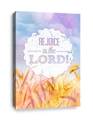 Rejoice in the Lord Christian Canvas Print