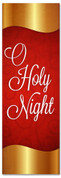 Red and Gold Christmas banner - O Holy Night