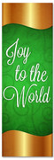 Green & Gold Christmas banner for churches - Joy to the World