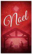 Red 3x5 manger scene Christmas banner - Noel